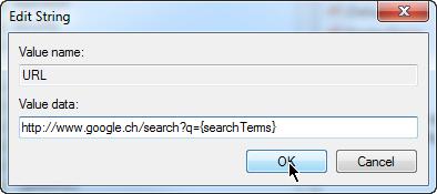 Mit Google.ch statt Google.de suchen - Standard Suchmaschine umstellen