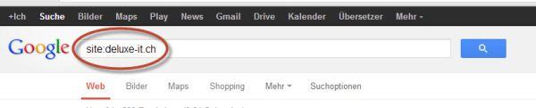 Suche nach bestimmten Inhalt einer Domain oder Homepage mit Google als Suchmaschine