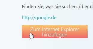 IE - Google als Standardsuchmaschine